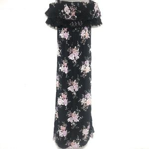 AEO American Eagle Strapless Floral Maxi Dress S